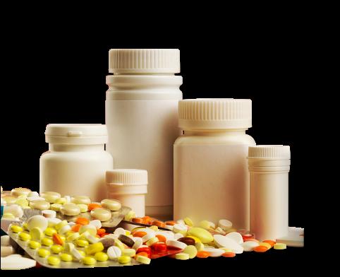 medicine and medicine bottle